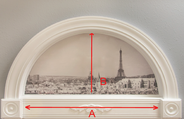 Arch Measuring Diagram (width and height)