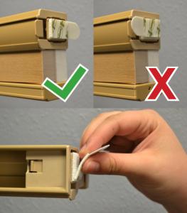 remove and reinstall artisan custom shades step 3