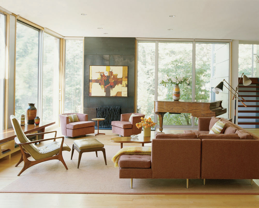 Mid century modern living room this design style