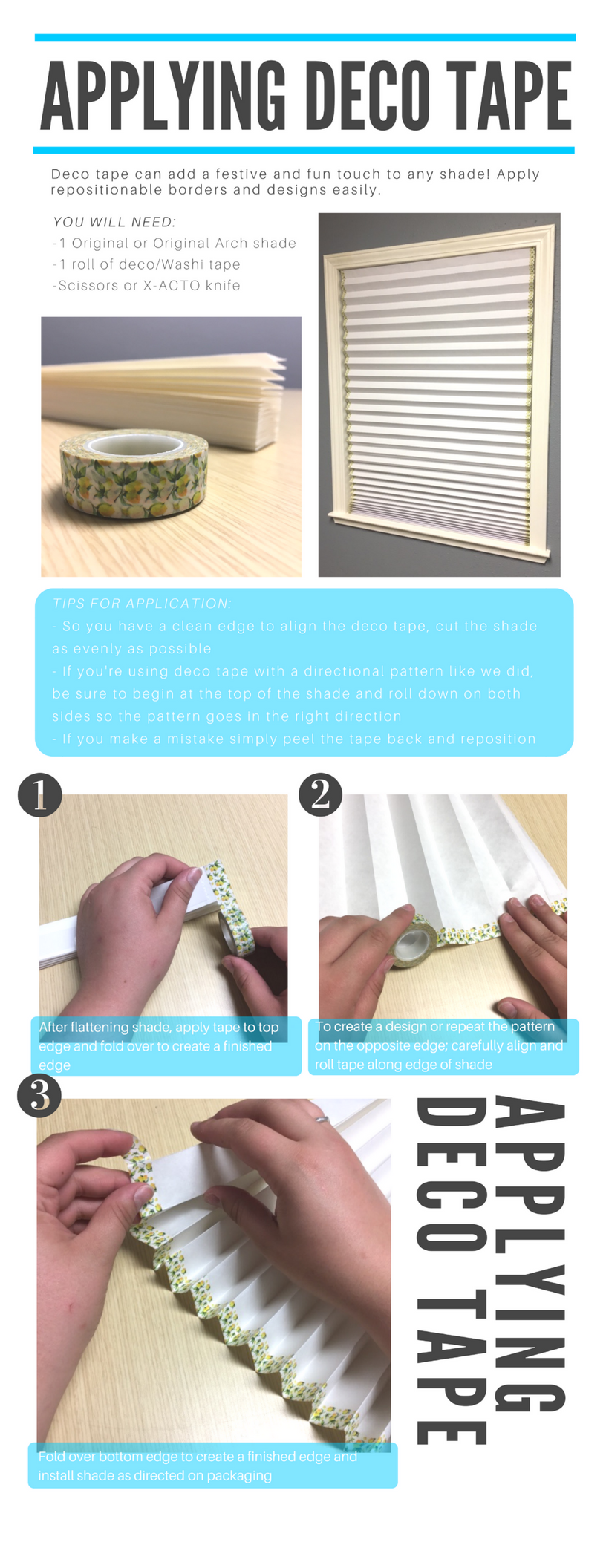 Decorating Shades (deco tape shade)