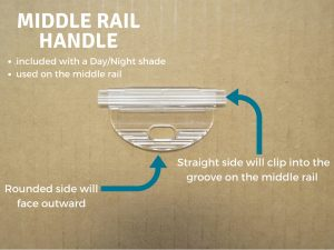 Redi Shade Middle Rail Handle