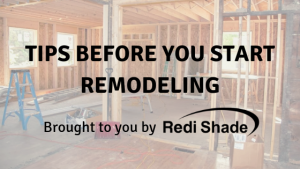 Tips before remodel