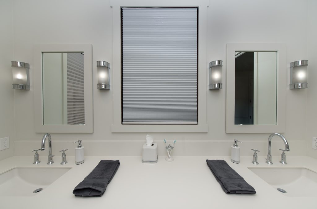 Easy Lift Shade in bathroom