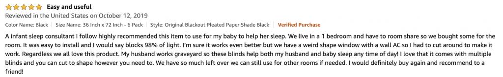 Amazon Blackout shades 2