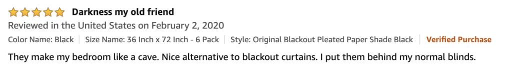 Amazon original blackout shade