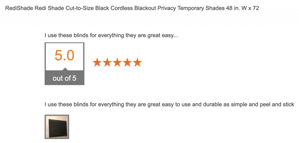 Home Depot original blackout shades