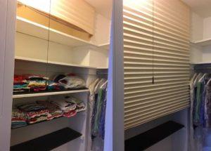 original shades to cover walk in closet
