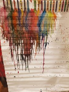 melted crayons on original shade