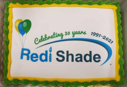 Redi Shade 30 year anniversary cake